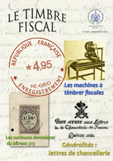 Bulletin Le Timbre Fiscal n°108 Image 1